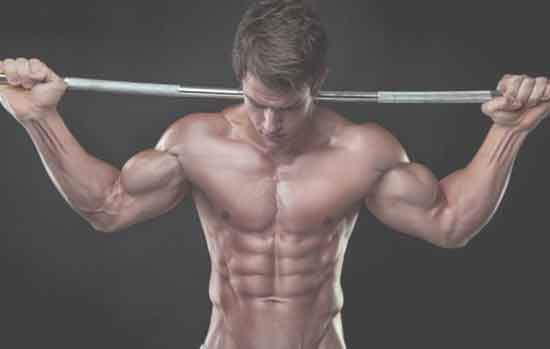 a ripped man with barbell