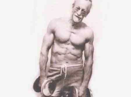 old man with abs